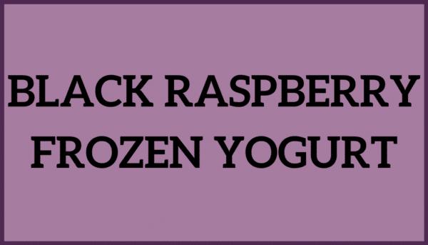 Black Raspberry Frozen Yogurt