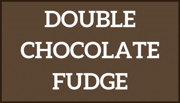 Double Chocolate Fudge Ice Cream