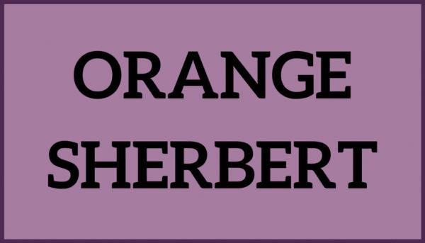 Orange Sherbert Ice Cream