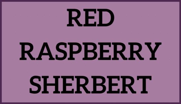 Red Raspberry Sherbert
